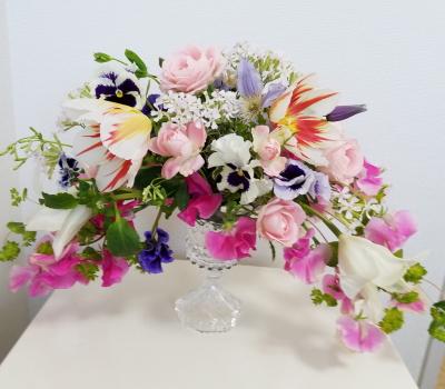グラスアレンジ,Flower Drops コースⅡ,東京,自由が丘,フラワーアレンジメント教室