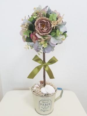 アーティフィシャルフラワーで作るトピアリー,Flower Drops コースⅡ,東京,自由が丘,フラワーアレンジメント教室,フラワードロップス