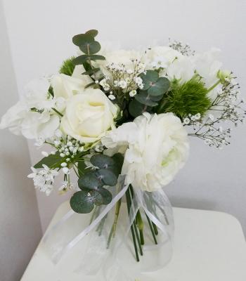 花嫁の花束,作品その2,Flower Drops コースⅡ,東京,自由が丘,フラワーアレンジメント教室,フラワードロップス