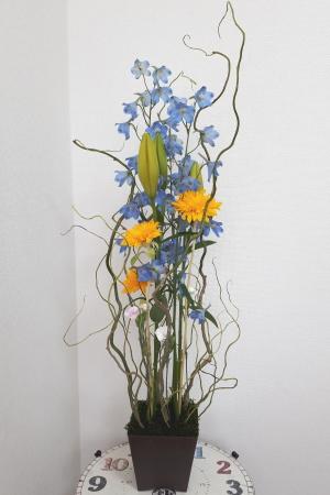 ホッホフリーセント,作品その1,Flower Drops コースⅡ,東京,自由が丘,フラワーアレンジメント,フラワースクール,フラワー教室