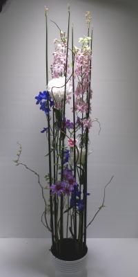 静止と動き,作品その3,Flower Drops コースⅢ,東京,自由が丘,フラワーアレンジメント,フラワースクール,フラワー教室,フラワードロップス