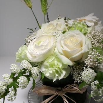 グリーンとラフィア,Flower Drops コースⅡ,東京,自由が丘,フラワーアレンジメント,フラワースクール,フラワー教室,フラワードロップス