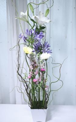 ホッホフリーセント,作品その2,Flower Drops コースⅡ,東京,自由が丘,フラワーアレンジメント,フラワースクール,フラワー教室,フラワードロップス