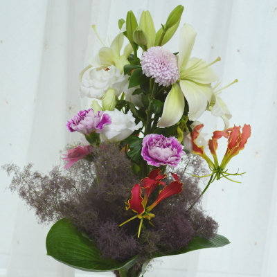 パリスタイルの花束Ⅱ,Flower Drops コースⅡ,東京,自由が丘,フラワーアレンジメント,フラワースクール,フラワー教室,フラワードロップス
