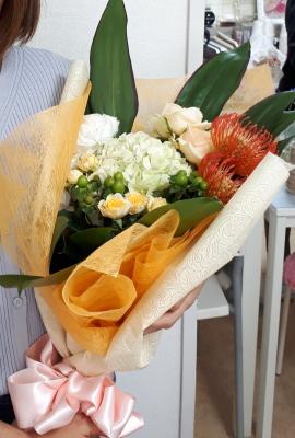 感謝の花束,NFDウエディングフラワーコース,東京,自由が丘,フラワーアレンジメント,フラワースクール,フラワー教室,フラワードロップス