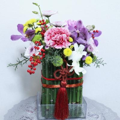 お正月飾り,作品その2,Flower Drops コース,東京,自由が丘,フラワーアレンジメント,フラワースクール,フラワー教室,NFD公認校,フラワードロップス