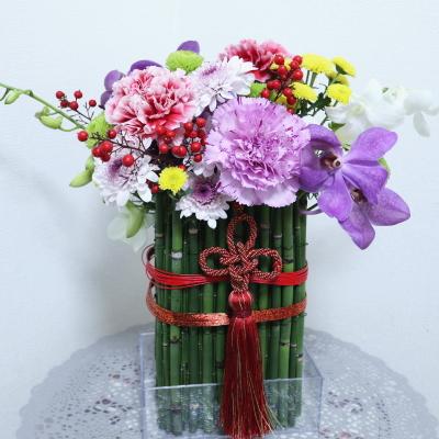 お正月飾り,作品その3,Flower Drops コース,東京,自由が丘,フラワーアレンジメント,フラワースクール,フラワー教室,NFD公認校,フラワードロップス
