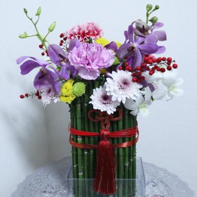 お正月飾り,作品その4,Flower Drops コース,東京,自由が丘,フラワーアレンジメント,フラワースクール,フラワー教室,NFD公認校,フラワードロップス