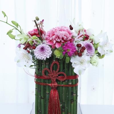 お正月飾り,見本,Flower Drops コース,東京,自由が丘,フラワーアレンジメント,フラワースクール,フラワー教室,NFD公認校,フラワードロップス