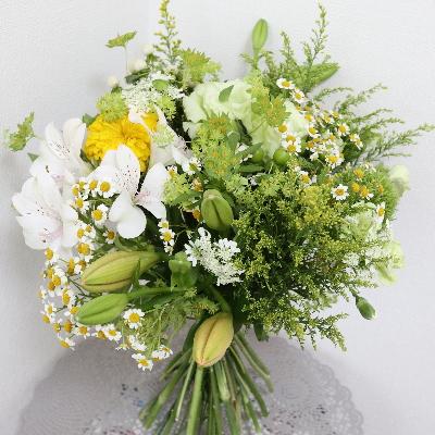 パリスタイルの花束,作品その2,Flower Drops コースⅡ,東京,自由が丘,フラワーアレンジメント,フラワースクール,フラワー教室,フラワードロップス