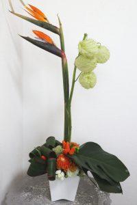 グリーン・グリーンアレンジ,作品その2,Flower Drops コースⅡ,東京,自由が丘,フラワーアレンジメント,フラワースクール,フラワー教室,フラワードロップス