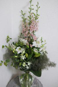 ガーデンウエディングの花束,作品その2,Flower Drops コースⅢ,東京,自由が丘,フラワーアレンジメント,フラワースクール,フラワー教室,フラワードロップス