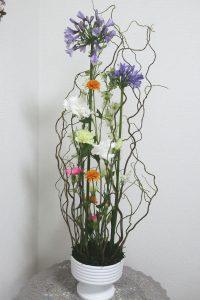 ホッホフリーセント,作品その1,Flower Drops コースⅡ,東京,自由が丘,フラワーアレンジメント,フラワースクール,フラワー教室,フラワードロップス