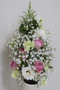 麻ひもで作る花束,作品その2,Flower Drops コースⅢ,東京,自由が丘,フラワーアレンジメント,フラワースクール,フラワー教室,フラワードロップス