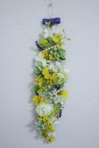壁飾り,作品その1,Flower Drops コースⅢ,東京,自由が丘,フラワーアレンジメント,フラワースクール,フラワー教室,フラワードロップス