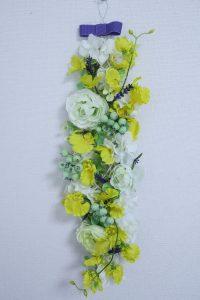 壁飾り,作品その2,Flower Drops コースⅢ,東京,自由が丘,フラワーアレンジメント,フラワースクール,フラワー教室,フラワードロップス