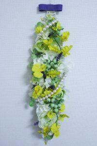 壁飾り,作品その3,Flower Drops コースⅢ,東京,自由が丘,フラワーアレンジメント,フラワースクール,フラワー教室,フラワードロップス