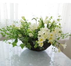 早春に咲く花々のアレンジ|東京|自由が丘|フラワーアレンジメント教室|フラワードロップス