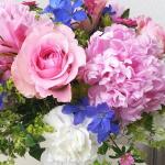 ドーム(春いっぱいの花で)-フラッシュフラワーアレンジメント-