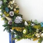 クリスマスリース-フレッシュフラワーアレンジメント-