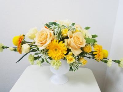 ホリゾンタル,Flower Drops コースⅠ,東京,自由が丘,フラワーアレンジメント教室,フラワードロップス
