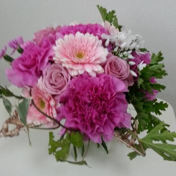 1dayレッスンで生徒さんが製作した花束