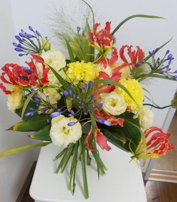パリスタイルの花束,Flower Drops コースⅡ,東京,自由が丘,フラワーアレンジメント教室,フラワードロップス