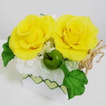 ボックスアレンジ,プリザーブドフラワー,Flower Drops コースⅠ,東京,自由が丘,フラワーアレンジメント教室,フラワードロップス