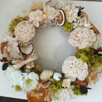 フラワーリース-生徒さんの作品その2|Flower Drops コースⅠ