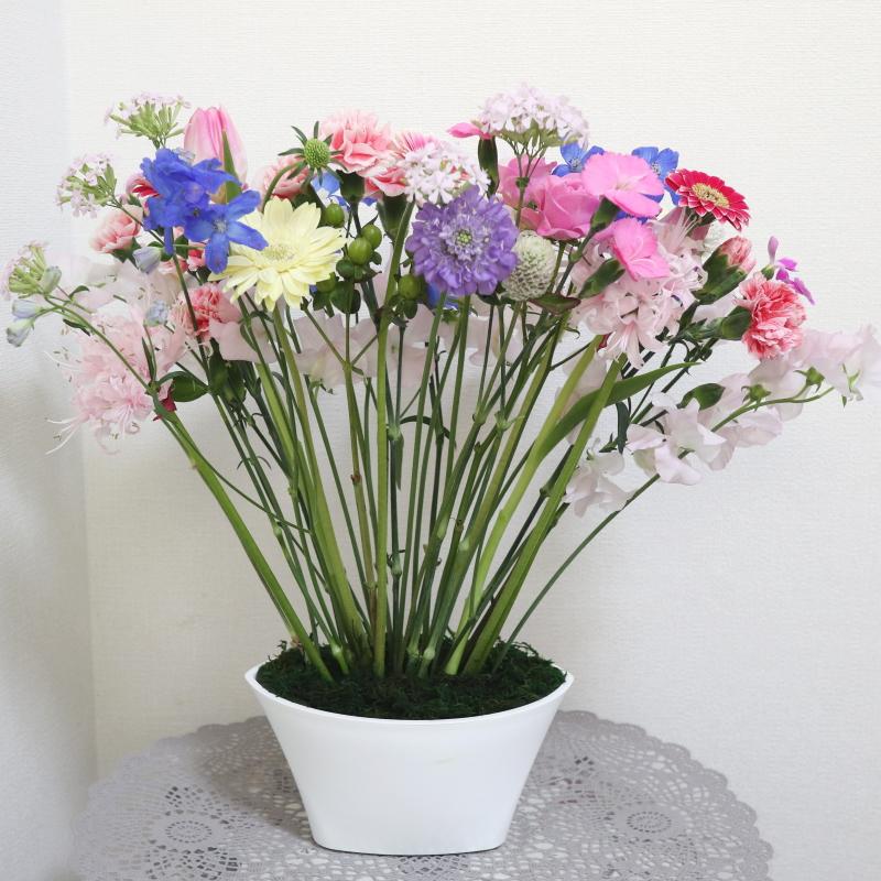 パラレルスタイルⅢ,作品その2,Flower Drops コースⅢ,東京,自由が丘,フラワーアレンジメント,フラワースクール,フラワー教室,フラワードロップス