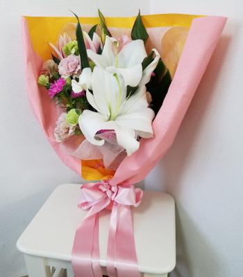 感謝を伝える花束,NFDウエディングフラワーコース,東京,自由が丘,フラワーアレンジメント,教室,フラワードロップス