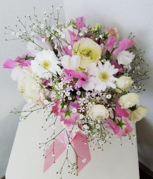 花嫁のためのブーケ,Flower Drops コースⅡ,東京,自由が丘,フラワーアレンジメント,教室,フラワードロップス