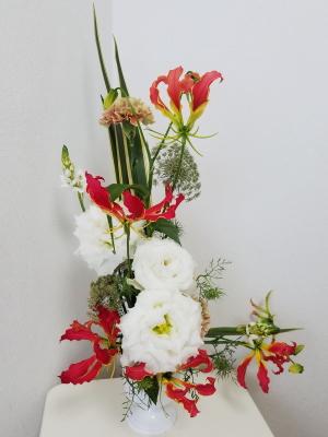 Lシェイプ,Flower Drops コースⅡ,東京,自由が丘,フラワーアレンジメント教室,フラワードロップス