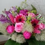 Flower Drops コースⅠの6月のテーマ、パリスタイルの花束-フレッシュフラワーアレンジメント-東京・自由が丘のフラワーアレンジメント教室|フラワードロップス