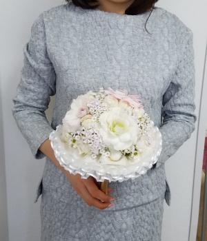 装飾的な花嫁のブーケ,ウエディングフラワーコース,東京,自由が丘,フラワーアレンジメント,教室,フラワードロップス
