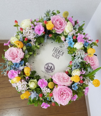 テーブルリース,Flower Drops コースⅠ,東京,自由が丘,フラワーアレンジメント教室,フラワードロップス