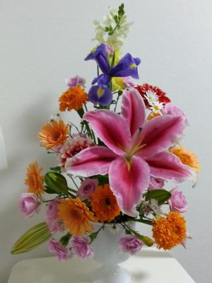 マーラリッシュ-生徒さんの作品その2|Flower Drops コースⅠの11月のテーマ|東京・自由が丘のフラワーアレンジメント教室|フラワードロップス